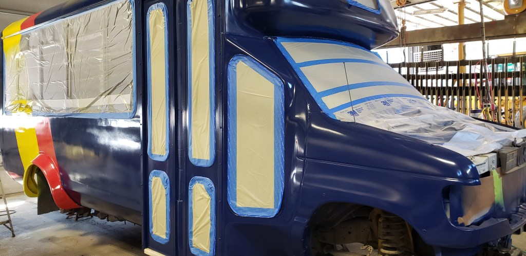 New bus paint