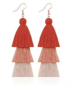 red 3 Red 3 Colored Tassel Earrings