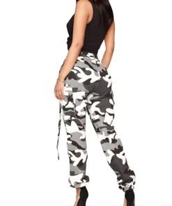 Bomb Camouflage Print Pants