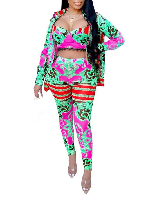 Matching Sets: Long Sleeve 3 Piece Outfits For Women