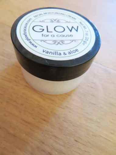 Facial moisturizing Aloe vera & Vanille van Glow for a Cause Geschikt voor de droge huid
