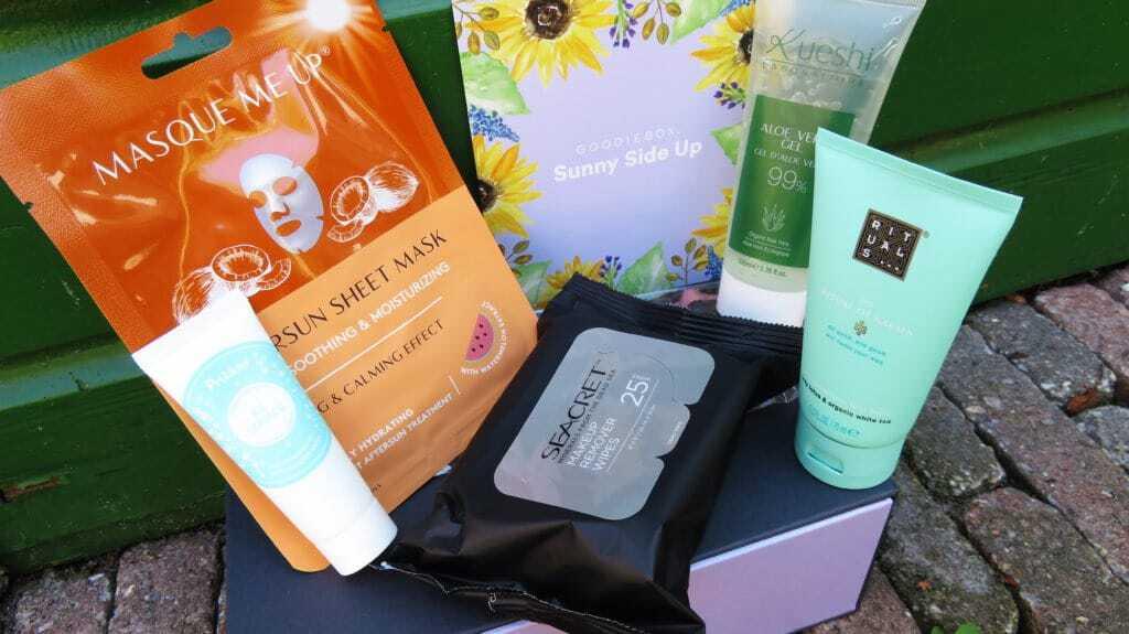 Een volle goodiebox Juni vol met zomerse producten om de huid te verwennen en extra te hydrateren na die vele zonnestralen.