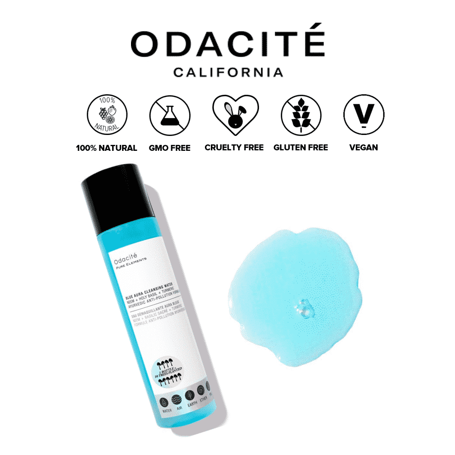*ODACITE – BLUE AURA MICELLAR CLEANSING WATER + MAKEUP REMOVER | $39 |