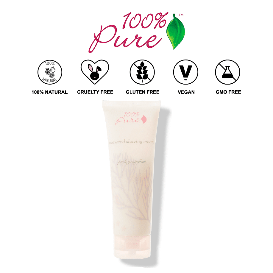 *100% PURE – PINK GRAPEFRUIT & SEAWEED NATURAL SHAVING CREAM   $22  