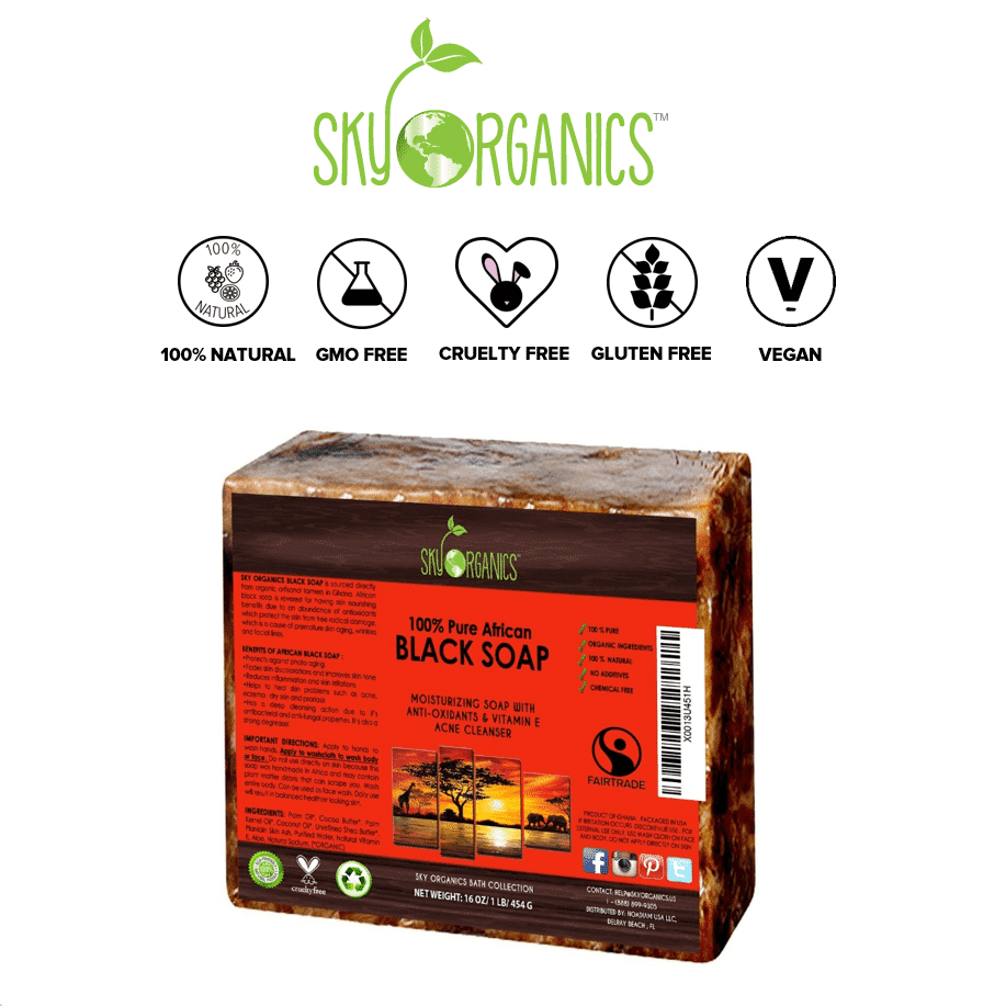 *SKY ORGANICS – ORGANIC AFRICAN BLACK SOAP BAR   $11.99  