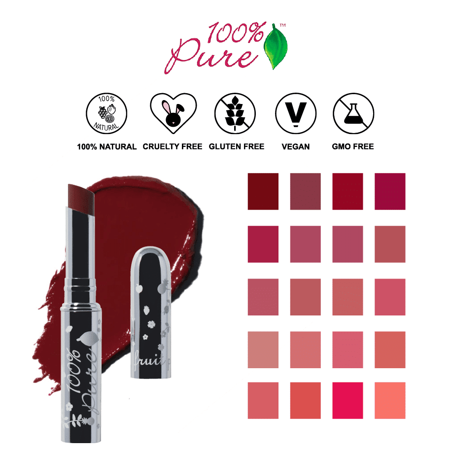 *100% PURE – ALL NATURAL FRUIT-PIGMENTED LIP GLAZE   $26  