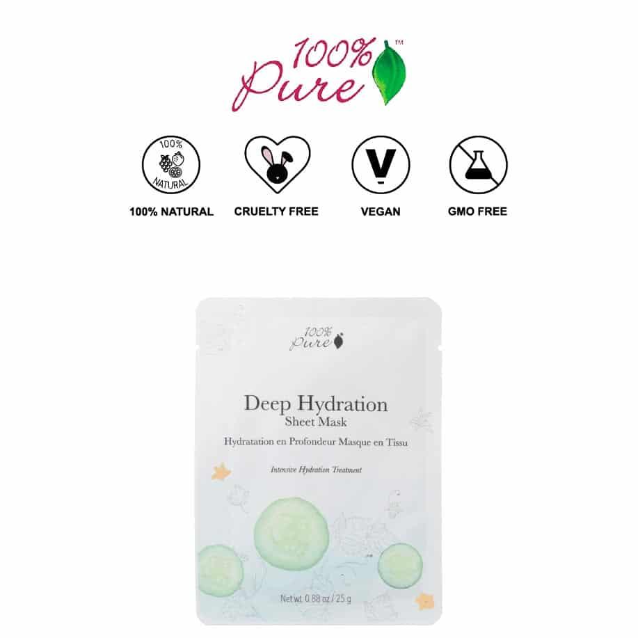 *100% PURE – DEEP HYDRATION ALL NATURAL SHEET MASK | $6 |