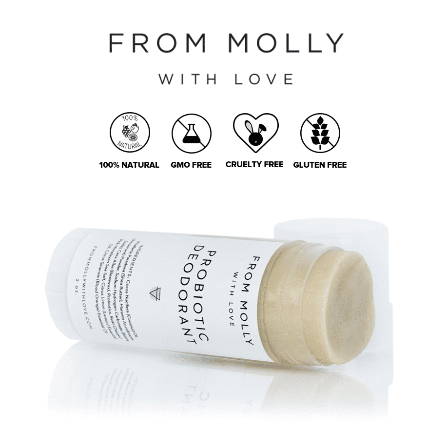 *FROM MOLLY WITH LOVE – ALL NATURAL PROBIOTIC DEODORANT | $13 |