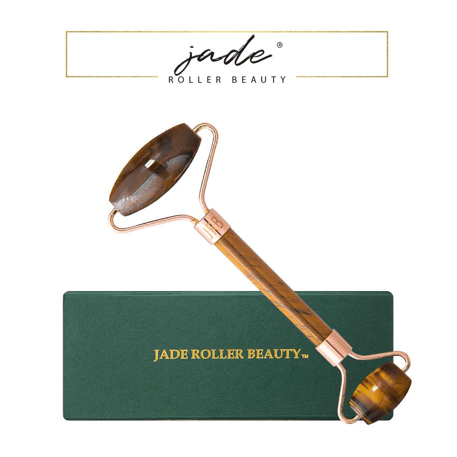 *JADE ROLLER BEAUTY – TIGER'S EYE LUXURY FACIAL ROLLER   $78  