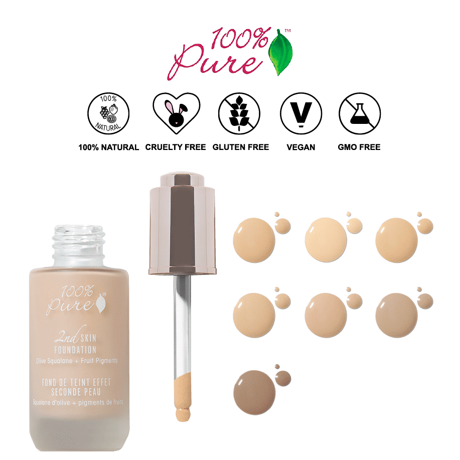 *100% PURE – FRUIT PIGMENTED 2ND SKIN ALL NATURAL FOUNDATION | $47 |