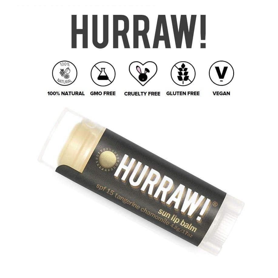 *HURRAW – ORGANIC SPF 15 LIP BALM   $14.50  