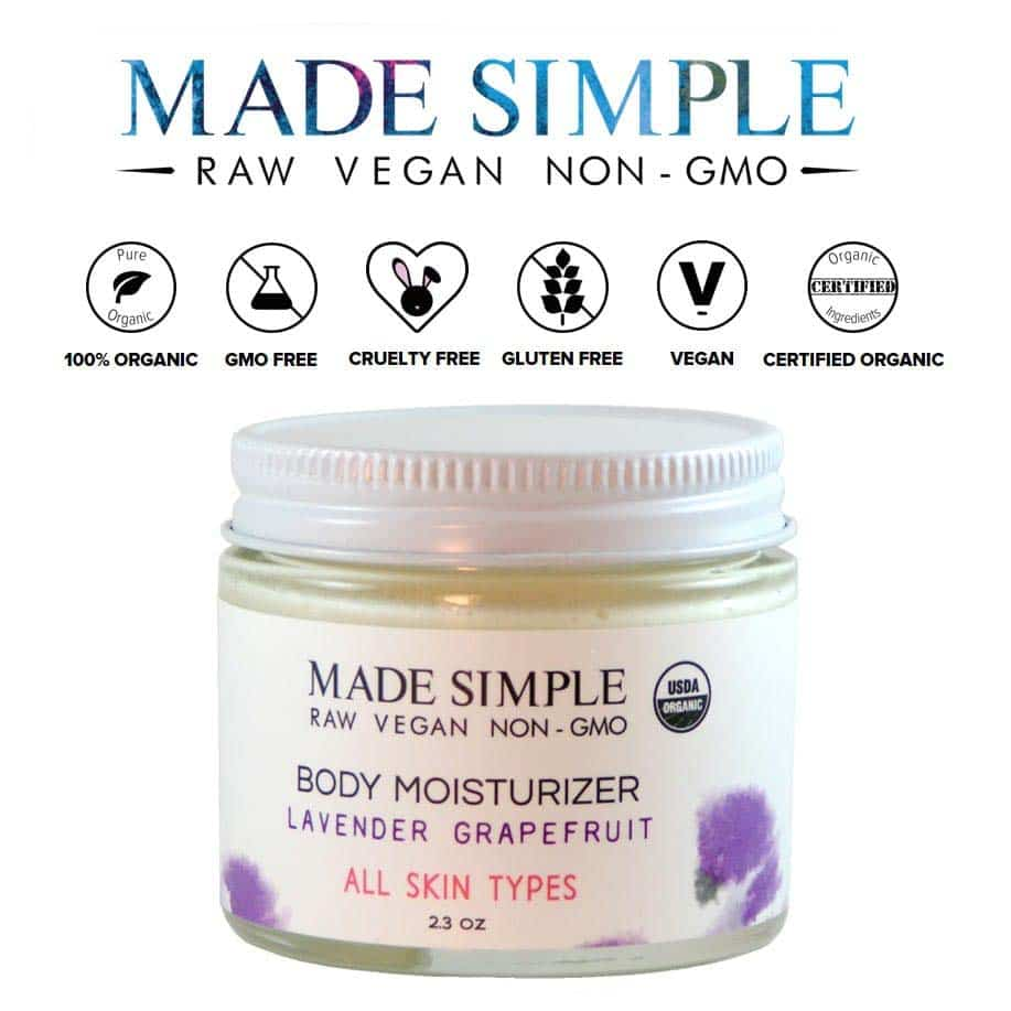 *MADE SIMPLE – USDA ORGANIC WHIPPED BODY MOISTURIZERS | $14 |