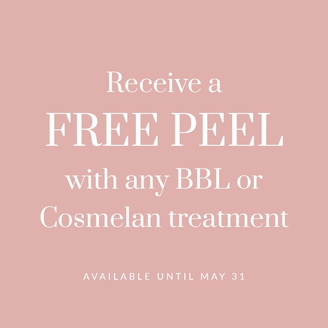 Free peel with BBL or Cosmelan treatment