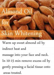Using Almond Oil for Skin Whitening
