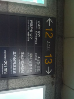 Before you reach the top of exit 13 you can enter the Lotte Young Plaza