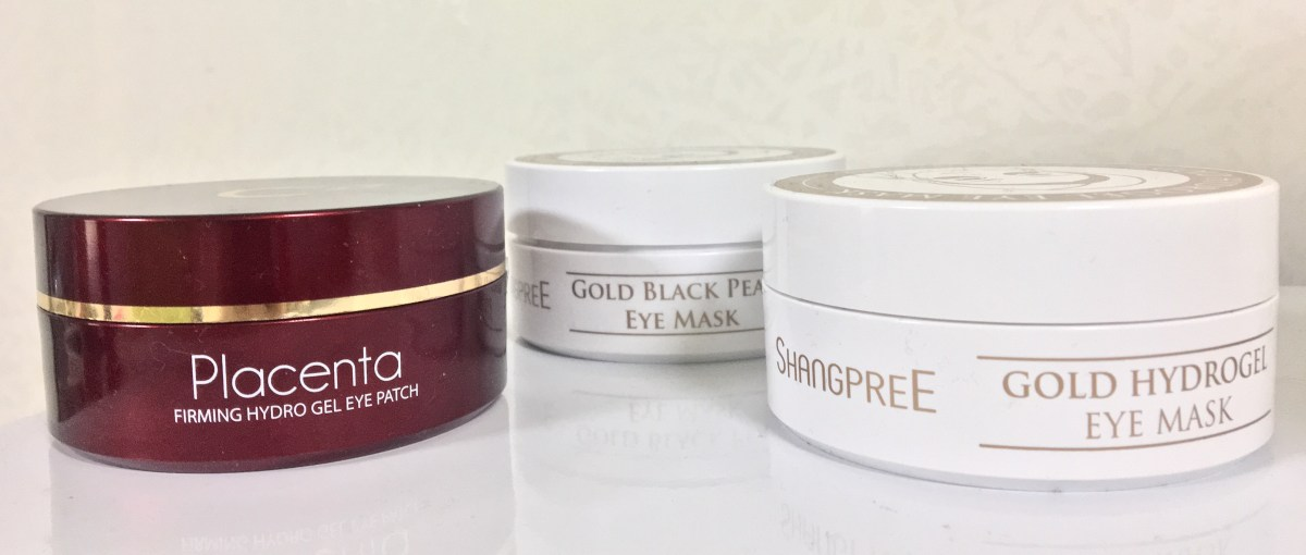 Battle of the Eye Masks- Shangpree Gold Black Pearl vs Shangpree Gold Hydrogel vs Berrisom Placenta Firming Hydrogel