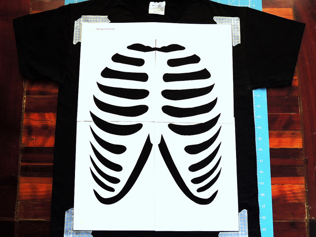 Glow In The Dark Skeleton T Shirt Diy With Tulip Fabric