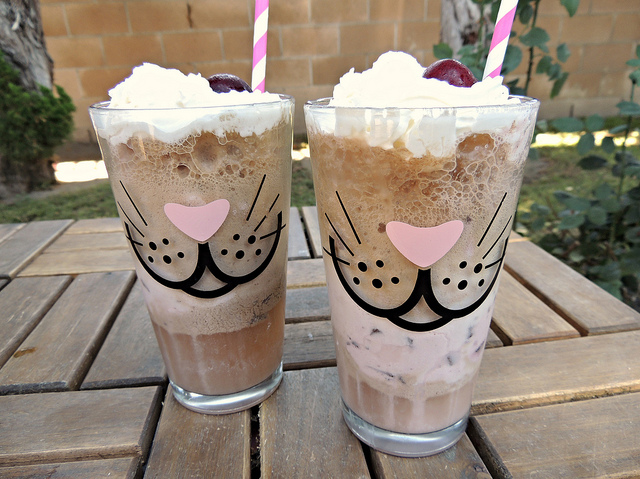 Cherry Chocolate Ice Cream Float Recipe
