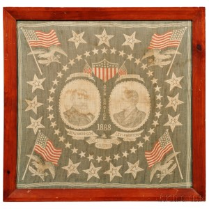 Framed Harrison/Morton Cotton Campaign Bandana (Lot 190, Estimate $200-$400)