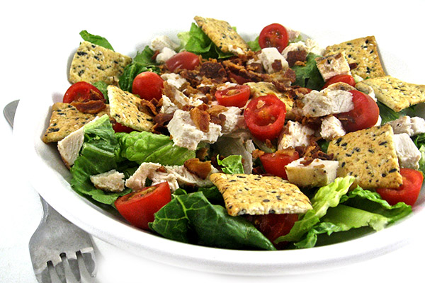 chicken casear, blt salad