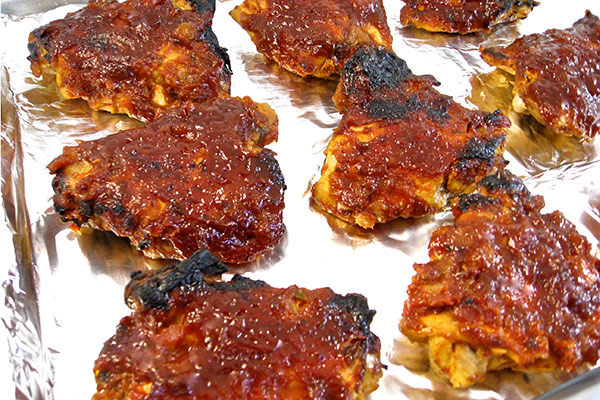 Finger Licking Good Chicken With Homemade Barbecue Sauce With Weight