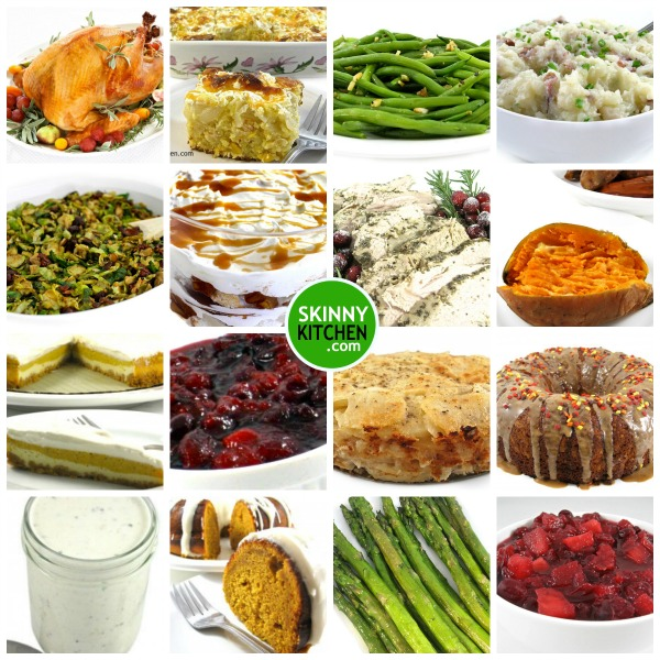 Skinny Kitchen's Thanksgiving Recipe Roundup With Weight