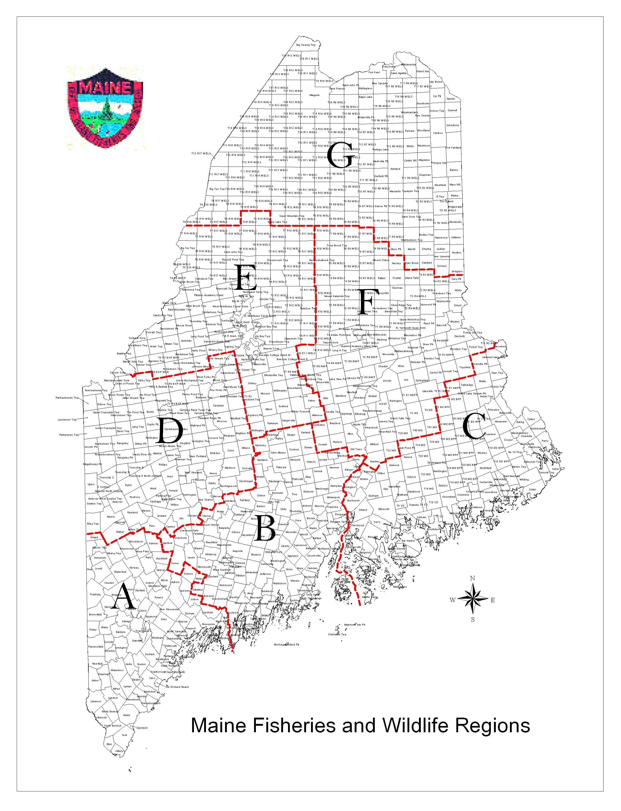 maine hunting zone map