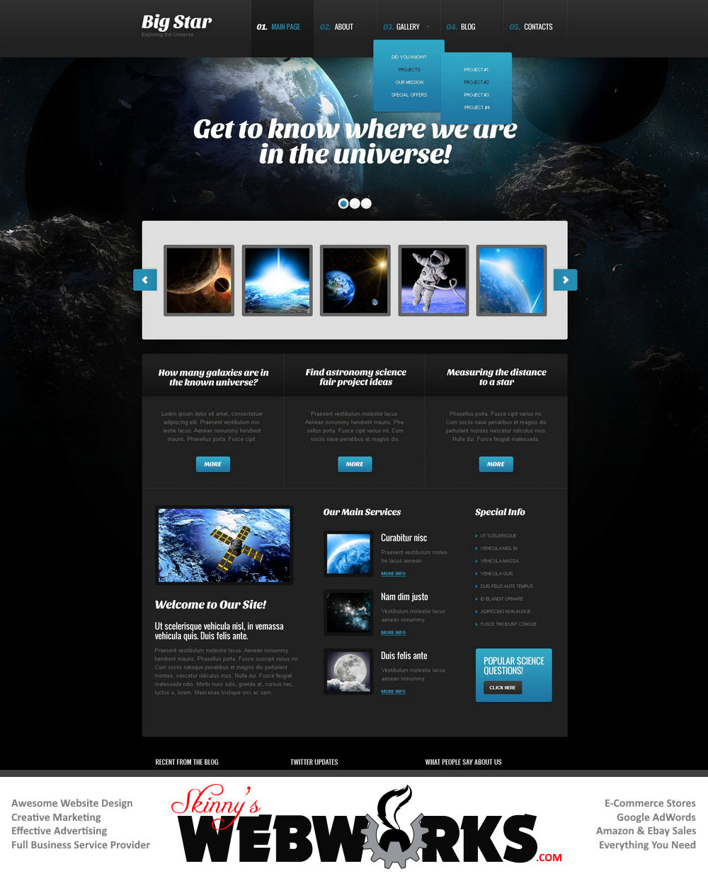 website ideas designs themes