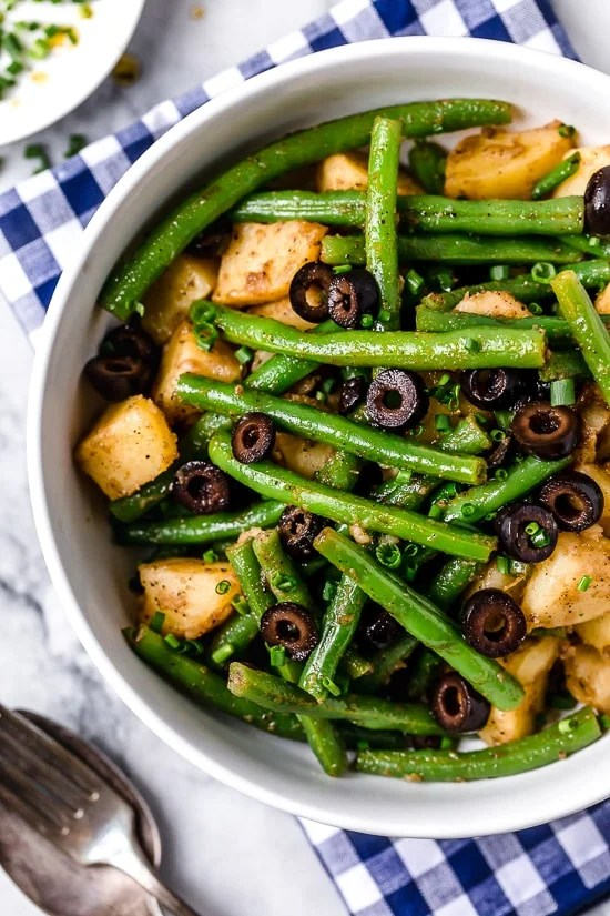 This Potato and Green Bean Salad with balsamic vinaigrette is a delicious mayo-free potato salad, perfect for potlucks and a great side dish with anything you're grilling!