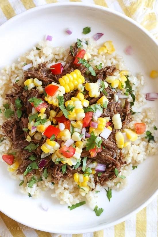ricetta low carb: manzo in salsa piccante con riso al coriandolo