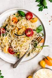 angel hair pasta with zucchini