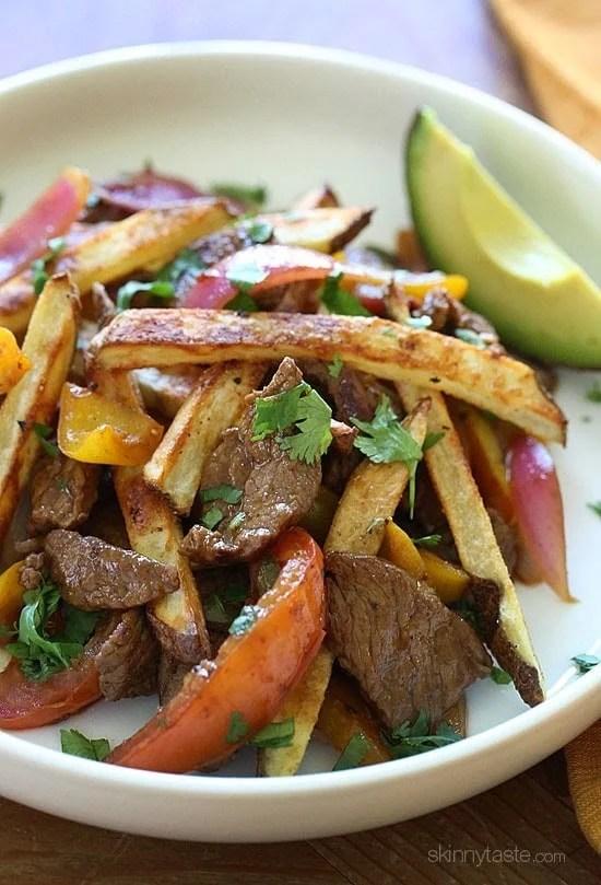 Lomo Saltado (Peruvian Beef Stir Fry) | Skinnytaste