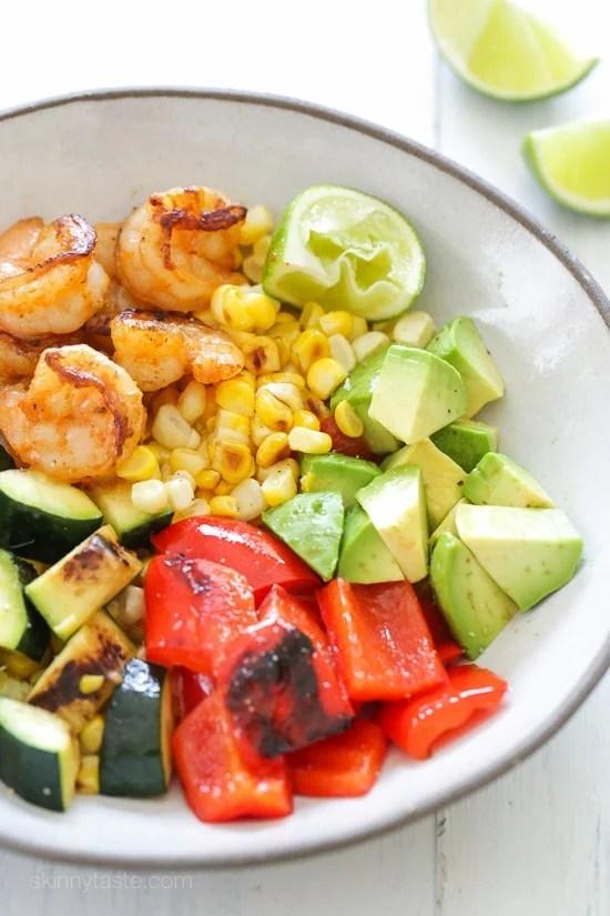 BBQ Shrimp and Vegetable Bowl-2