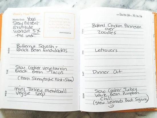 Skinnytaste Dinner Plan (Week 45)