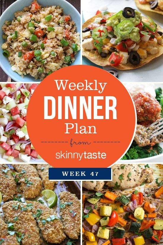 Skinnytaste Dinner Plan (Week 47)