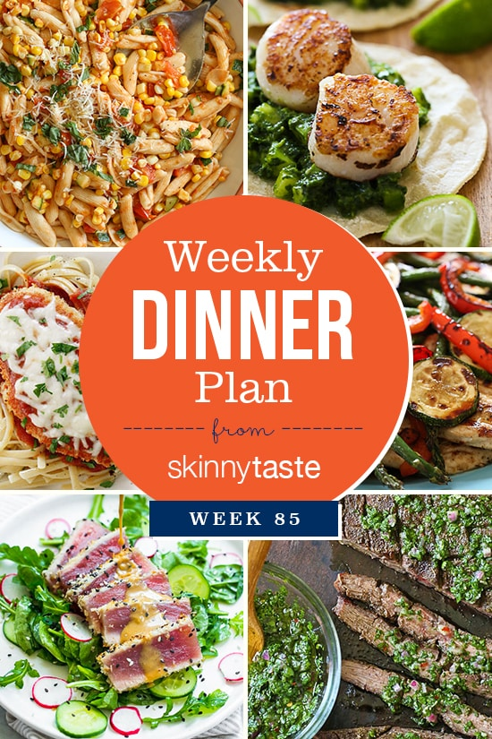 Skinnytaste Dinner Plan (Week 85)