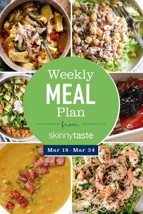 Skinnytaste Meal Plan (March 18-March 24)