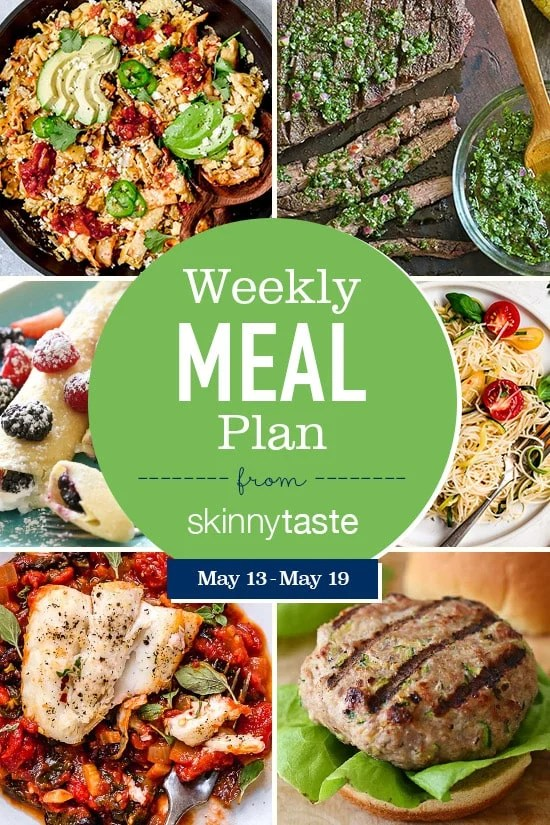 A free 7-day flexible weight loss meal plan including breakfast, lunch and dinner and a shopping list. All recipes include calories and WW SmartPoints®.
