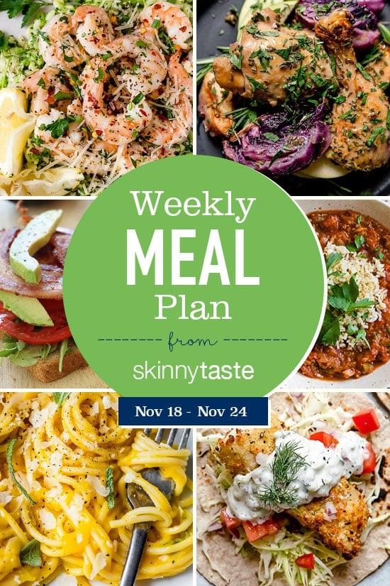 Skinnytaste Meal Plan (November 18-November 24)