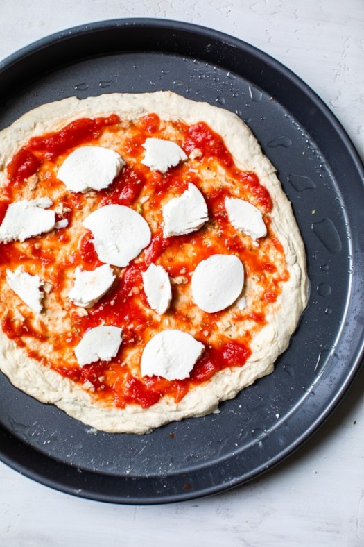easy pizza made from scratch with no yeast dough