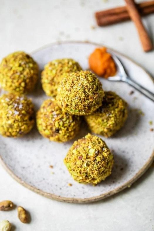 Pumpkin Pistachio Energy Balls