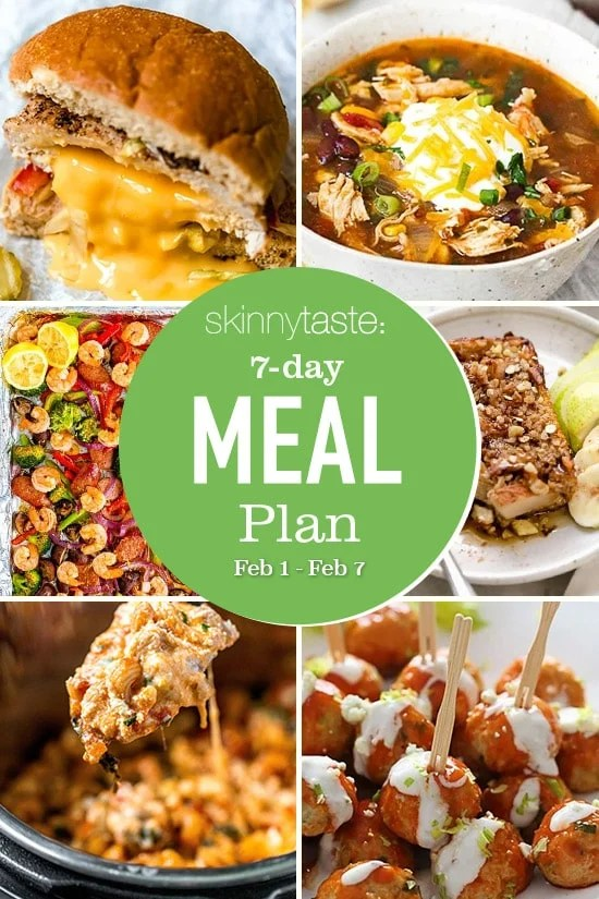 7-day healthy meal plan (February 1-7)