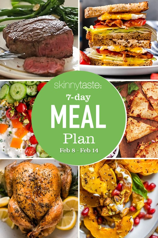 7 Day Healthy Meal Plan Feb