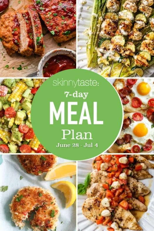 7 Day Healthy Meal Plan (June 28-July 4) 2