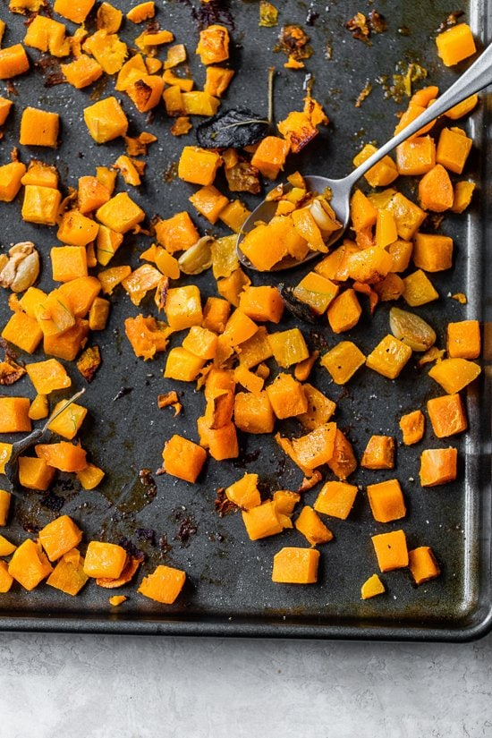 roasted butternut with garlic
