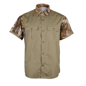 "Men's Classic ""PIXEL"" Short Sleeve Hunting Shirt Front"