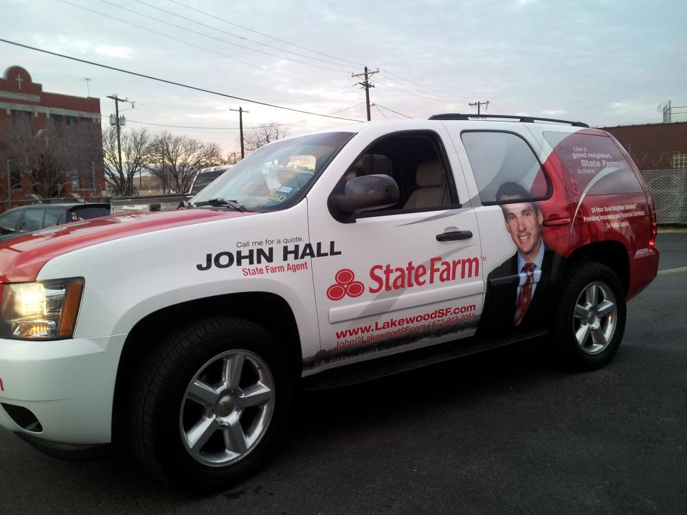 Vinyl SUV Wrap for John Hall of State Farm in Lakewood