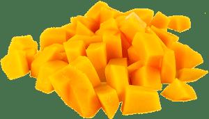a peeled mango