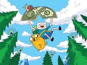 adventure time money