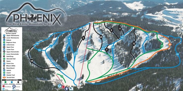 Ski Phoenix Mountain Trail Map-01